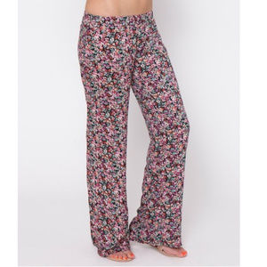 Oneill floral rose beach cover up jiggy pants S